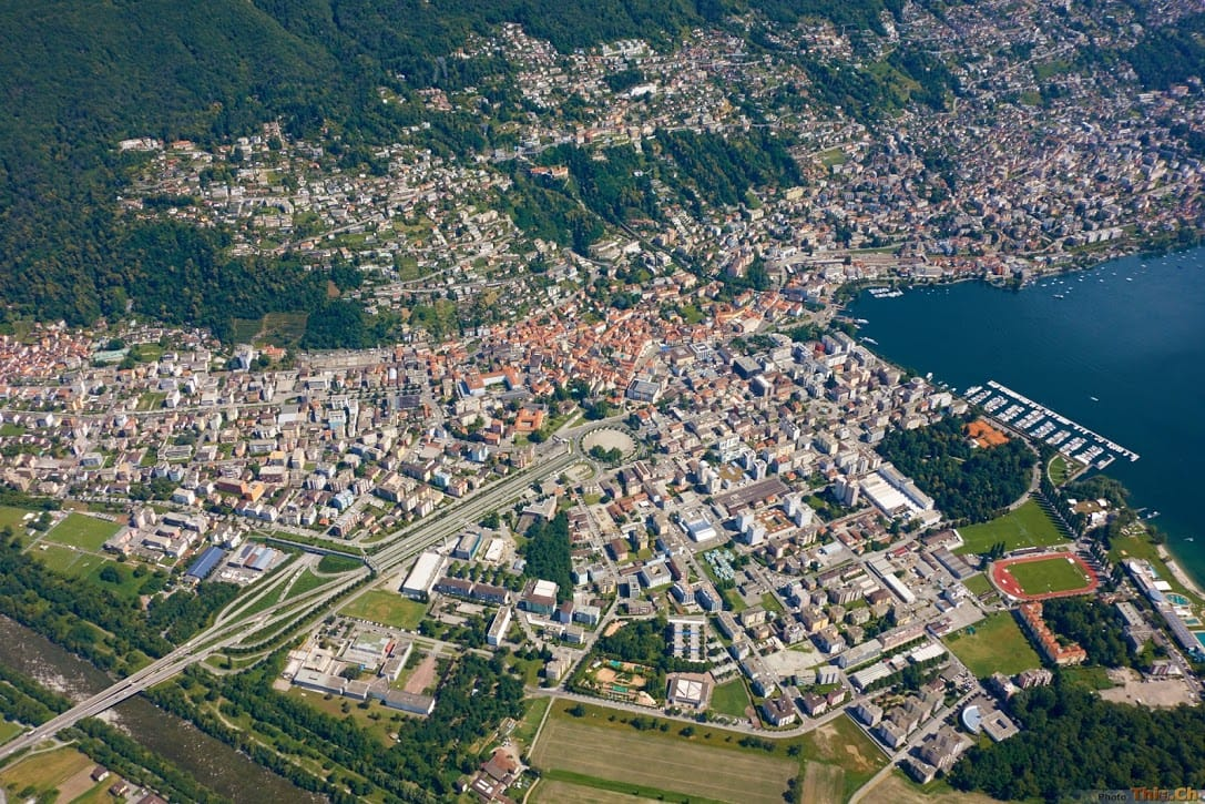 Flying over Locarno Ascona