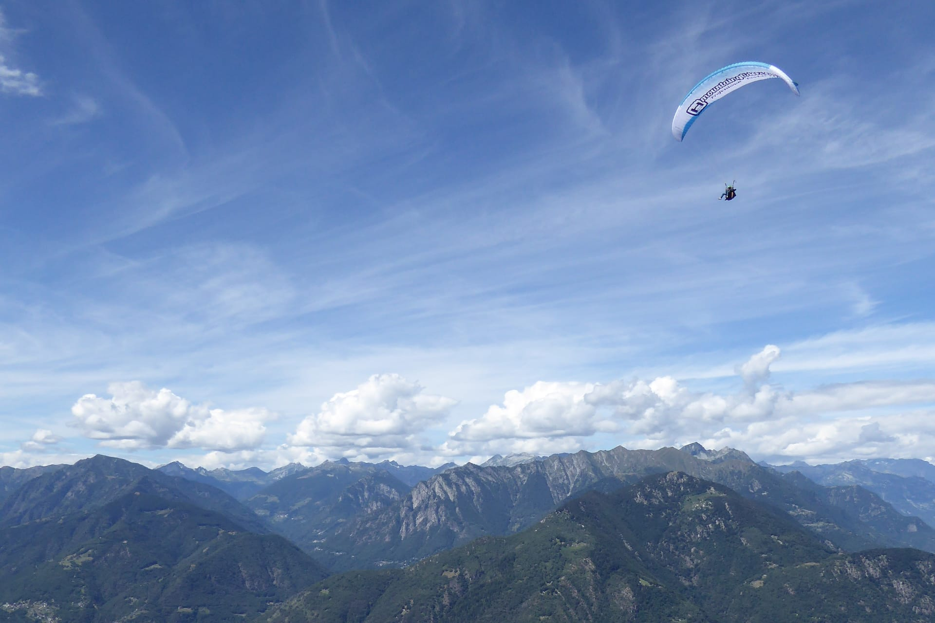 Paragliding from Cimetta