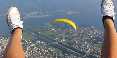 Paragliding Flight over Locarno and Ascona