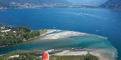 Landing at the Delta Lago Maggiore in Locarno