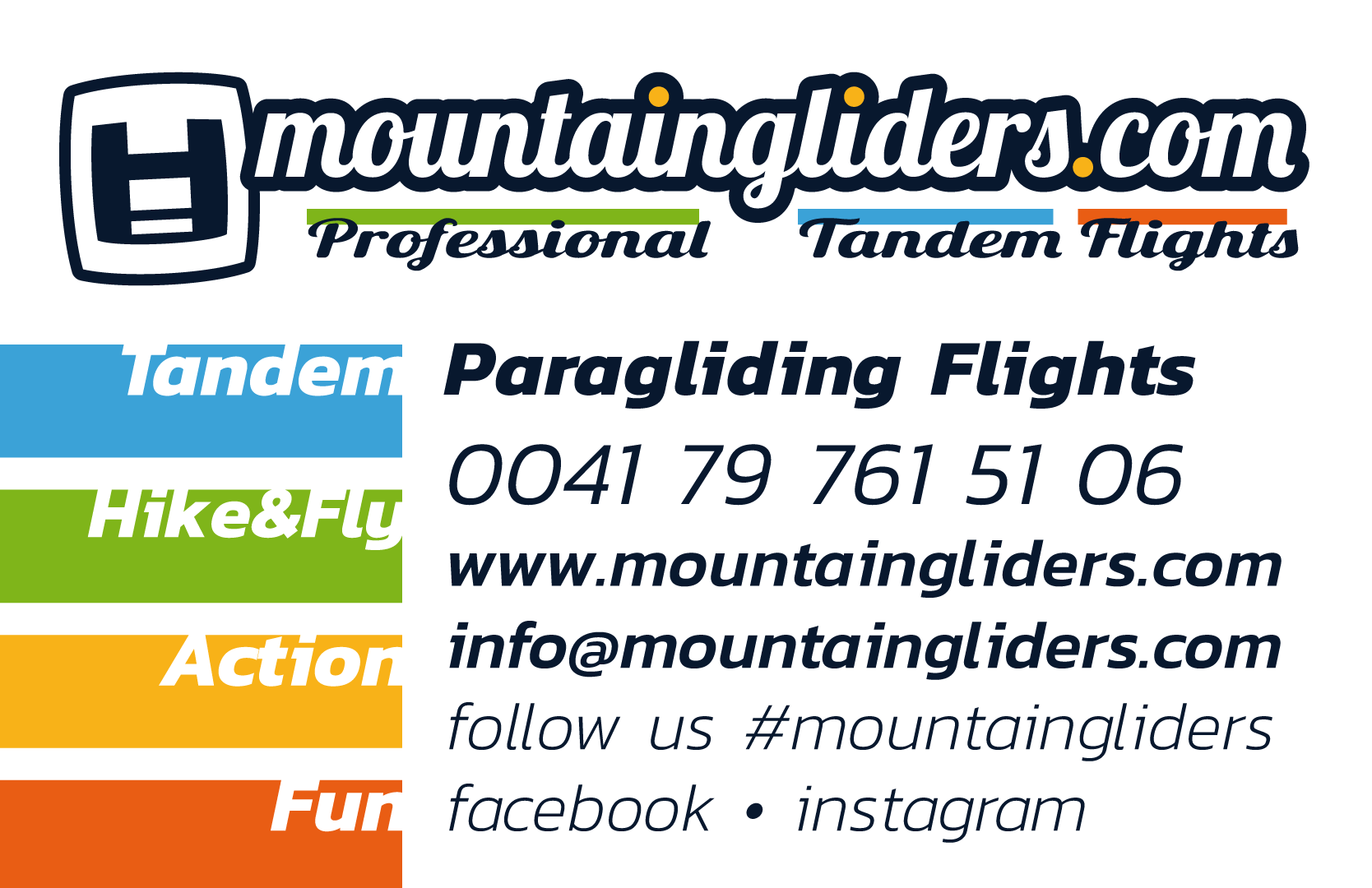 Logo from Mountaingliders - Professional Paragliding Tandem Flights in Ticino