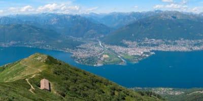 Paragliding Tandem Flight from Monte Gambarogno in Ticino